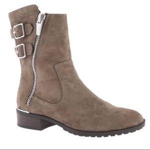 EUC Calvin Klein Rasa Asymmetrical ankle booties